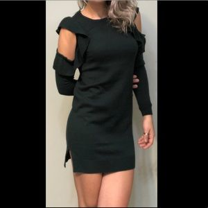 Moiety Cold Shoulder Sweater Dress